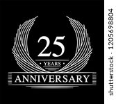 25 years design template. 25th... | Shutterstock .eps vector #1205698804
