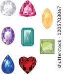 precious different colors and...   Shutterstock .eps vector #1205703067