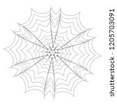 abstract decorative spider web... | Shutterstock .eps vector #1205703091
