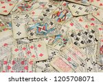old fortune telling maps with... | Shutterstock . vector #1205708071