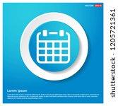 calendar icon abstract blue web ...