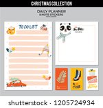 set of planners and to do lists ... | Shutterstock .eps vector #1205724934