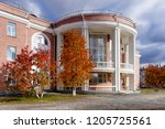 the building of the residence... | Shutterstock . vector #1205725561