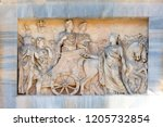 triumphal arch  the arch of... | Shutterstock . vector #1205732854
