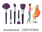 visage makeup visagiste... | Shutterstock .eps vector #1205737834