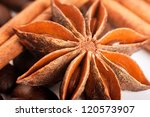 sticks of cinnamon and an... | Shutterstock . vector #120573907
