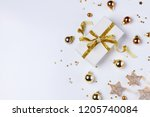 christmas flat lay scene with... | Shutterstock . vector #1205740084