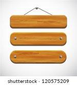 set of wooden tablets | Shutterstock .eps vector #120575209