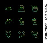 set of 9 icons  for web ... | Shutterstock .eps vector #1205761057