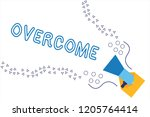 word writing text overcome.... | Shutterstock . vector #1205764414