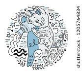 zodiac vector signes   aquarius ...   Shutterstock .eps vector #1205764834
