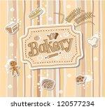 bakery label doodle vector... | Shutterstock .eps vector #120577234