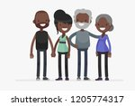 cute families isolated vector... | Shutterstock .eps vector #1205774317