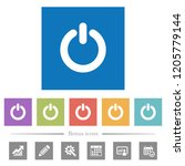 power switch flat white icons... | Shutterstock .eps vector #1205779144