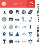 sports filled blue   black icons | Shutterstock .eps vector #1205781091