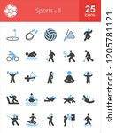 sports filled blue   black icons | Shutterstock .eps vector #1205781121