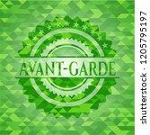 avant garde green emblem....   Shutterstock .eps vector #1205795197