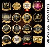 retro vintage badges and labels ...   Shutterstock .eps vector #1205799841