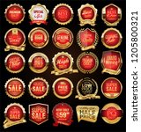 retro vintage badges and labels ... | Shutterstock .eps vector #1205800321