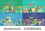 science  laboratory flat color... | Shutterstock .eps vector #1205800381
