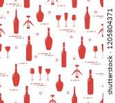 seamless pattern of wine...   Shutterstock .eps vector #1205804371