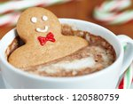 gingerbread cookie men in a hot ... | Shutterstock . vector #120580759