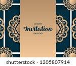 luxury invitation design with...   Shutterstock .eps vector #1205807914