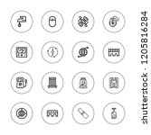 wire icon set. collection of 16 ... | Shutterstock .eps vector #1205816284