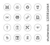 tie icon set. collection of 16...   Shutterstock .eps vector #1205816464