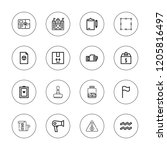 mark icon set. collection of 16 ...