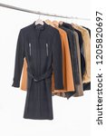 different clothes  fur coat for ...   Shutterstock . vector #1205820697