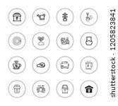 pot icon set. collection of 16... | Shutterstock .eps vector #1205823841