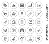 solid icon set. collection of... | Shutterstock .eps vector #1205823844