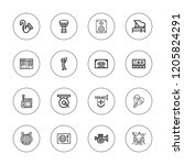 musical icon set. collection of ... | Shutterstock .eps vector #1205824291