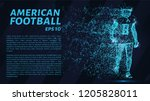 american football player... | Shutterstock .eps vector #1205828011