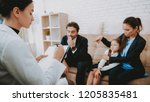family in bussiness clothers.... | Shutterstock . vector #1205835481