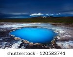 incredibly blue pool blahver at ...   Shutterstock . vector #120583741