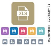 xls file format white flat...