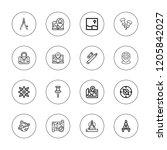 cartography icon set.... | Shutterstock .eps vector #1205842027