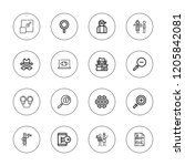 detective icon set. collection...   Shutterstock .eps vector #1205842081