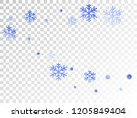 crystal snowflake and circle...   Shutterstock .eps vector #1205849404