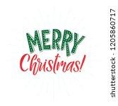 merry christmas vector text... | Shutterstock .eps vector #1205860717