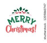 merry christmas text design.... | Shutterstock .eps vector #1205860747