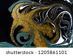 gold marbling texture design.... | Shutterstock . vector #1205861101