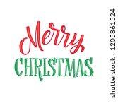 merry christmas text design.... | Shutterstock .eps vector #1205861524