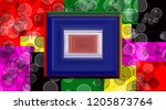 abstract texture frame pattern... | Shutterstock . vector #1205873764
