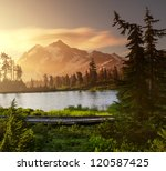 Picture Lake And Mount Shuksan...