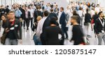 large crowd of anonymous... | Shutterstock . vector #1205875147