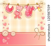 baby shower card | Shutterstock . vector #120587539