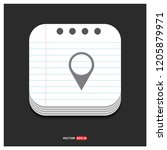 map pin icon   free vector icon